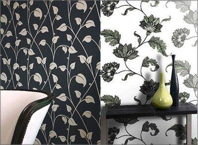 Чорно-білий контраст шпалер в інтер`єрі (+ фото)