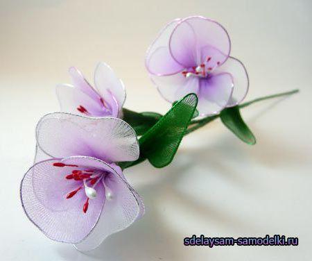 Квіти з колготок