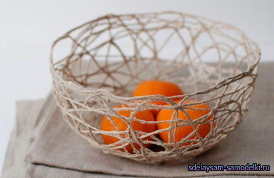 Декоративна ваза з нитки