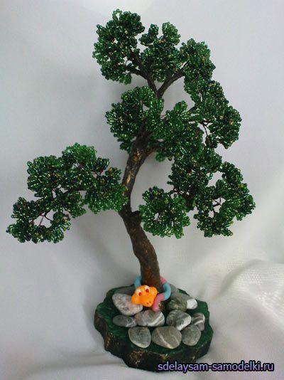 Дерева з бісеру