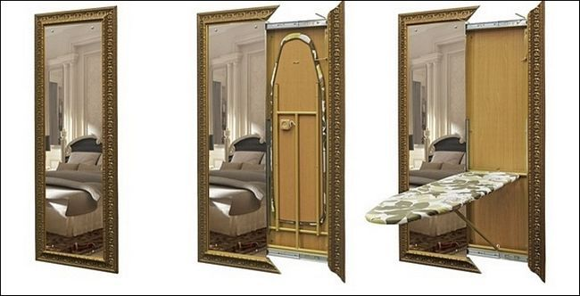 Ідеї для інтер`єру: дзеркало з секцією зберігання