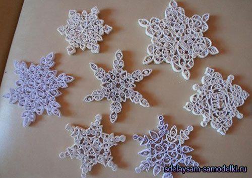 Ідея для сніжинок - квіллінг