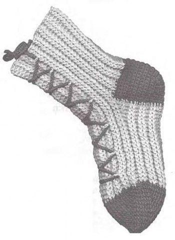 Як в`язати шкарпетки гачком з манжетки