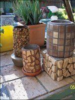 Кашпо з мозаїкою для садових квітів