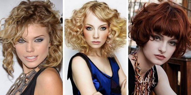 Короткі жіночі стрижки на кучеряве волосся