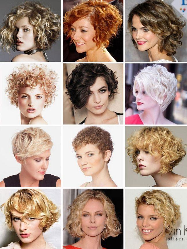 Короткі стрижки на кучеряве волосся 2015