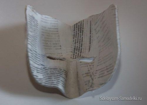 Маска з паперу - пап`є маше