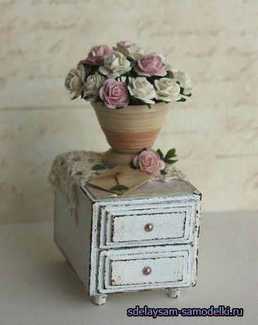 Міні тумбочка із сірникових коробок