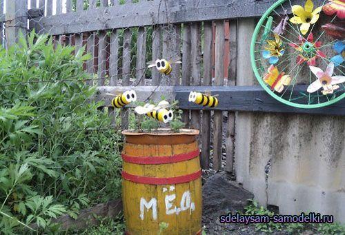 Бджола з пластикової пляшки