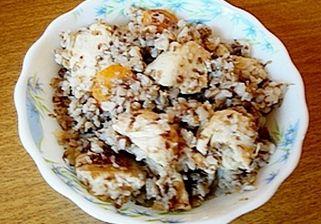 Рецепт гречки з куркою в мультиварці