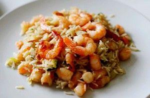 Рис з креветками