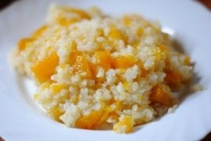 Рисова каша на воді з гарбузом в мультиварці