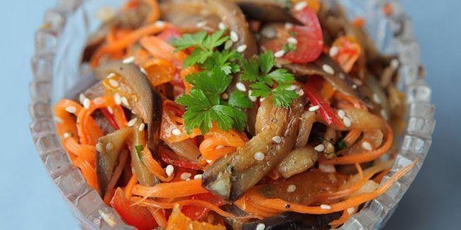 Салат з баклажанів по-корейськи
