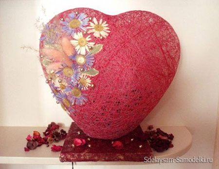 Світильник, абажур у вигляді серця