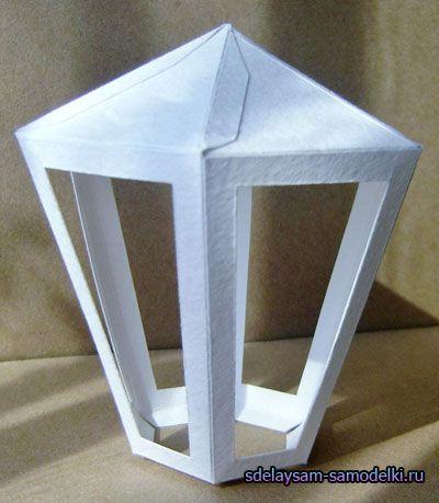 Вуличний ліхтар з паперу