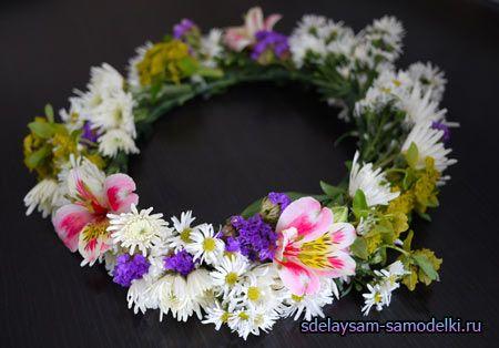 Вінок з квітів на голову