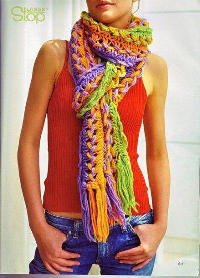 В`яжемо гачком. Гарний шарф (фото урок)